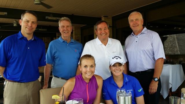 Några av våra fantastiska supporters på Cascade Hills Country Club.