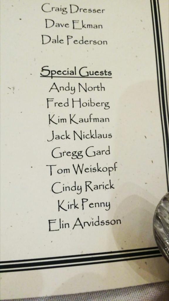 Tänk att jag fick möjlighet att vara en av gästerna i denna grupp av golfcelebriteter!