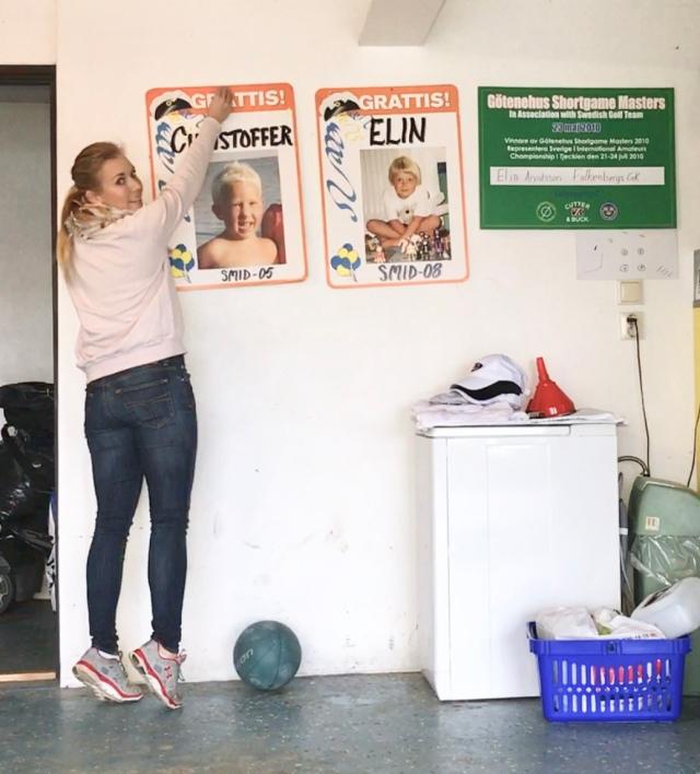 Ups, råkade visst kasta ner storebror när jag kastade min medicinboll mot väggen. Tips! kolla så att väggen är stabil innan du börjar kasta.