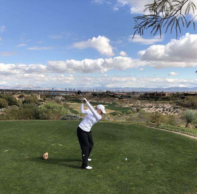 Om ni tittar längst bort i fjärran kan man se alla hotellen som ligger på den kända gatan the Strip i Las Vegas. Det är där de spelade in filmen Baksmällan.